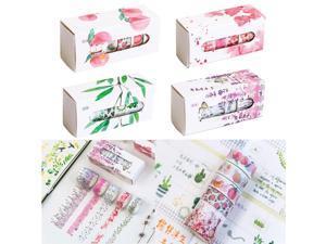 Washi tape fresh handbook photo album DIY decorative stickers 5 roll tape school supplies Scrapbook Scrapbooking