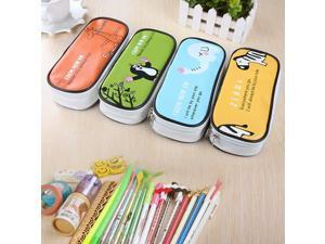 Pencilcase Stationery Bags Cartoon Animal Pencil Cases High Quality PU Pen Case Pencil Box Office School Supplies