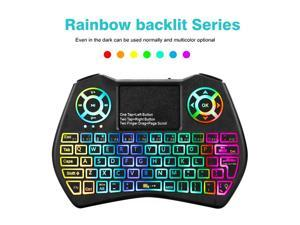 f960ae9a30c Backlight 2.4GHz Wireless Mini Keyboard Backlit Keyboard Air Mouse Touchpad  Controller ...