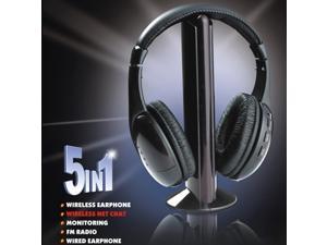 ef043766025 High Qunity 5 in 1 Wireless Headphones Watch Tv Earphone Cordless ...
