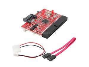 ping 2 In 1 IDE TO SATA/SATA TO IDE Converter Adapter 40pin + Cable for ATA HDD DVD