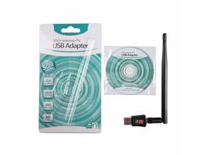 Mini Wireless USB Adapter 300M 2.4Ghz 802.11 b/g/n Network Card USB2.0 WiFi Adapter With 2dbi Aerial for Desktop Laptop PC
