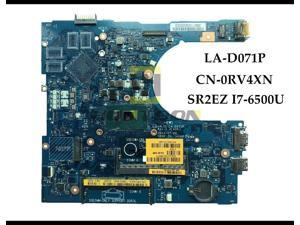 CN-0RV4XN for Dell Inspiron 5559 Laptop Motherboard AAL15 LA-D071P SR2EZ I7-6500U DDR3L 100% Fully Tested&