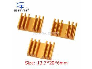 100 Pieces/lot  13.7x20x6mm Cooling Cooler RAM Heatsink Extruded Radiator For IC Video Card