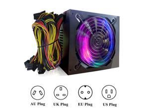 1800W Mining Machine Power Supply ATX For 6 GPU ETH BTC Rig Ethereum Coin Miner