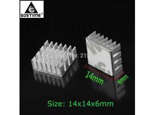 500 PCS/LOT  14x14x6mm Cooler Radiator Chip IC MOS VGA Card Aluminum Heatsink