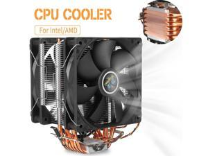 Blade Color: for 775 115 1366, Blade Quantity: 2 Fans Rarido 4PIN CPU Cooler 115X 1366 2011,6 heatpipe Dual-Tower Cooling 9cm Fan,Support Intel AMD