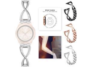 Stainless Steel Replacement 42mm women Diamond Watch Band For Samsung Galaxy Watch Wrist Strap Bracelet