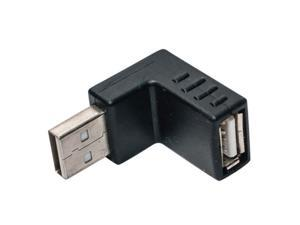 Right Angle USB lower bend connector Right Angle USB Male Down Facing Horizontal Female Adapter Extension Connector