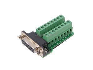DB15 D-SUB VGA 15Pin Female Adapter Jack Terminal Breakout PCB Board