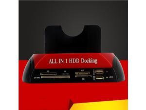 HDD Enclosure All in One HDD Docking Station Multi Card Reader Slot for HDD Disk 2.5/3.5inch SATA/IDE Hard Drive Docking Station