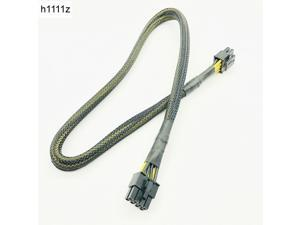 Black Sleeved CPU 8PIN 4+4PIN Modular Power Supply Cables 8Pin to 8Pin Power Cable for OCZ ZT/Great Wall 63CM 16AWG