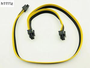 Modular PSU Power Supply Cables 6Pin to 6+2Pin Cable Graphics Card Module Line 6P to Dual 8p Splitter Ribbon Cable 18AWG 50+20cm