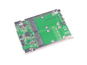 USB3.1 Micro B to 2 Ports mSATA Raid Adapter ASM1352R Support RAID 0 1 JBOD SPAN
