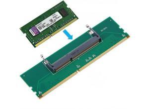 1pc DDR3 Laptop SO-DIMM to Desktop DIMM Memory RAM Connector Adapter DDR3  ping