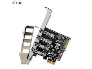 10PCS 4 Port PCIE to USB 3.0 Expansion Card PCI Express Adapter Pcie Card 4-Port USB 3.0 with 15 Pin Sata Power Connector for PC