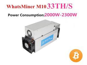 BTC BCH Miner Asic Bitcoin Miner WhatsMiner M10 33TH/S With Power Supply Better Than M3 Antminer S9 S9i S9j INNOSILICON T2T