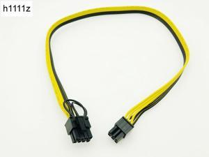 50CM Riser Cable 6Pin to 8Pin (6+2) Cable Server Power Conversion Board Graphic Card Power Cable 18AWG Splitter for BTC Mining