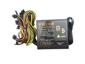 T.F.SKYWINDINTL 1600W PSU Power Supply For Computer 6 Video Card Mining Bitcoin Miner  1600W ATX PC Power Supply 110V 220V ETH