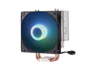 DP-iot PCCOOLER S83 CPU Cooler Copper Plating fins 2 heatpipes 80mm//8cm Silent Fan CPU Cooling Radiator Fan for AMD for Intel 775 115