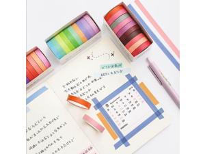 New salt solid color washi tape set rainbow 10 roll into tape blessing bag diy hand account decoration stickers masking tape