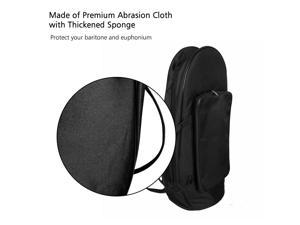 Euphonium Gig Bag Baritone Case with Straps Premium Abrasion Cloth Large Capacity Brass Instrument Accessories