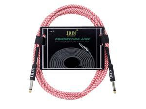 IRIN Electric Guitar Bass Cable 3 Meters/ 10 Feet Musical Instrument Audio Cable 1/4 Inch to 1/4 Inch TS Straight Plugs