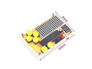 DIY Kit Tetris/Snake/Plane/Racing Game Kit DIY Electronics Experiment Kit with Shell Button Control MCU Computer Game Machine