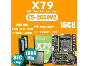 HUANANZHI X79 2.49 motherboard LGA2011  E5 2650 V2 CPU  2pcs x 8GB = 16GB DDR3 RAM 1866Mhz PC3 1490R  PCI-E NVME M.2 SSD