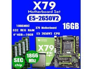HUANANZHI X79 motherboard LGA2011 ATX combos E5 2650 V2 CPU  4pcs x 4GB = 16GB DDR3 RAM 1866Mhz PC3 1490R  PCI-E NVME M.2 SSD