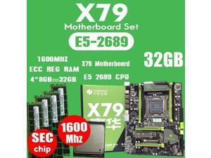 HOT-HUANANZHI X79 Motherboard LGA2011 ATX Combos E5 2689 CPU 4Pcs X 8GB = 32GB DDR3 RAM 1600 mhz PC3 12800R PCI-E NVME M.2 SSD