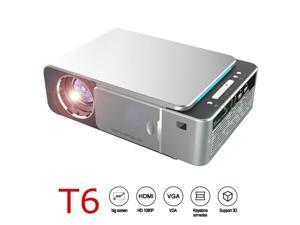 T6 Portable Full HD 4K 1080P LED Projector 3500 Lumens HDMI USB Support Portable Home Digital Theater Cinema Proyector Beamer