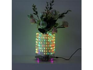 RGB LED Matrix Dream Light Circle DIY Kit Music Spectrum Module 8x32 Dot Matrix Electronic Fun LED Light Matrix DIY Electronic