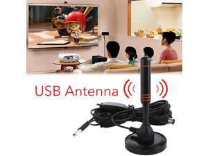 2019 New Indoor Gain 22dBi Digital DVB-T Television USB Aerial Antenna for TV HDTV Digital Television Antennas Black