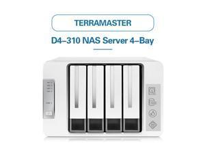 TerraMaster D4-310 Das USB3.0 Type C 4-Bay Enclosure Support RAID 0/1/Single Exclusive 2+3 RAID Mode Hard Drive  Storage Server