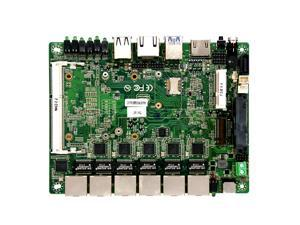 6 LAN firewall router industrial mini itx motherboard with intel i5-5200 processor support  pfsense function