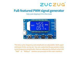 Full-function PWM pulse frequency duty cycle adjustable module square wave rectangular wave signal generator APWM1