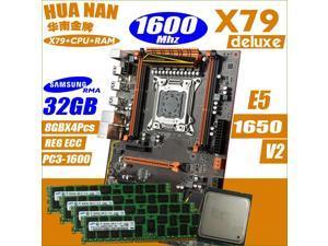 Deluxe X79 HUANANZHI motherboard CPU RAM combos processor Xeon E5 1650 v2 Memory module, memory DDR3  32GB(8GB*4PCS)1600MHz