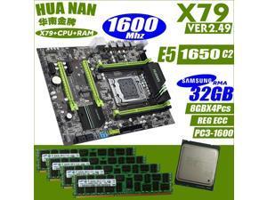 HUANANZHI  V2.49  X79 motherboard LGA2011 ATX combos E5 1650 C2 12800RServer memory Memory module 32GB(8GB*4PCS)