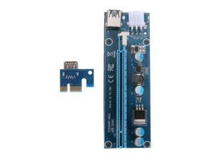 60cm PCI-E 1X to 16X Riser Card Extender Adapter + USB 3.0 Cable 15Pin SATA to 6Pin IDE Power Cord