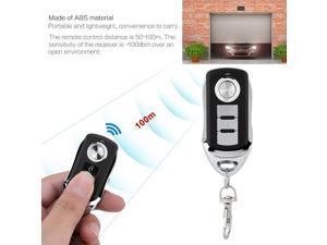50-100m Mini Wireless 433MHz 12V 4 keys Metal Copy Remote Controller Home Security Alarm Tool