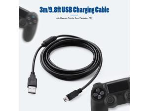 3m USB Charge Cable Cord Wire with Magnetic Ring USB Stable Safety Practical and Durability for Sony PS3 Wireless Controller