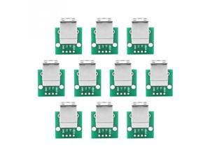 10Pcs USB Type B Female to DIP Adapter Board 4 Pin 2.54mm Pitch Tool Professional
