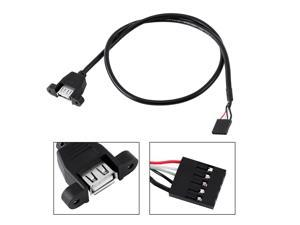 5 Pin Internal Motherboard Female Header To USB 2.0 Female Adapter Extension Cable Motherboard 5 Pin To USB Female Cable