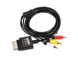 1.8m /6 FT Audio Video AV RCA Video Composite Cable With Three RCA Plug for Xbox 360 Slim L3FE