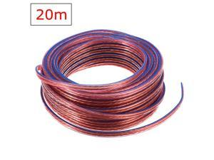 20M 2x 0.75mm Loud Speaker Cable Audio Wire High Purity Oxygen Free Copper Conductor Cord Millimeter for Amplifier