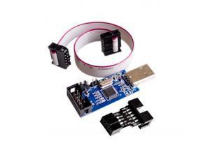 1SET SP USB AVR Programmer for Atmel USB ASP USBISP ISP Bootloader NEW+ 1PC 10PIN TO 6PIN ADAPTER
