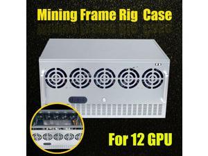 DIY Open Air Mining Crypto Currency Miner Frame Rig Case For 12 GPU ETH Ethereum  Computer Cases New Arrival