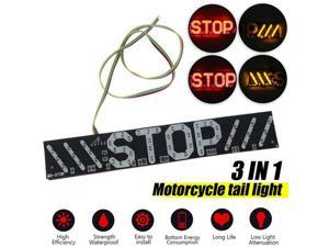 4LED Universal Motorcycle Stripe Stop Lamp Turning Left/right Waterproof Rear Tail Turn Signal License Plate Light DRL Lamp
