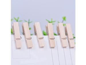 50PCS 3.5cm Natural Mini Spring Wood Clips Clothes Photo Paper Peg Pin Clothespin Craft Clip Party School Decoration